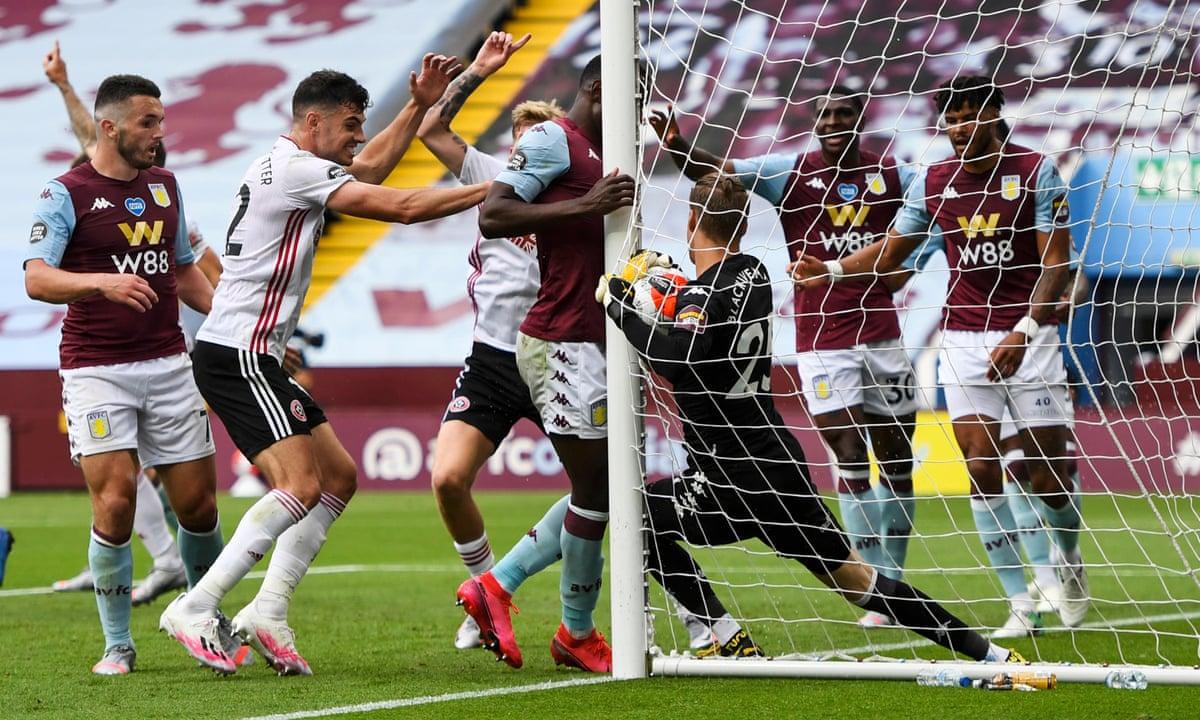 Sheffield United denied by goalline technology as Aston Villa earn point    Football   The Guardian