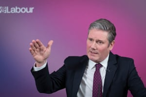 The leader of the Labour Party, Sir Keir Starmer, during a statement on the UK economy on 18 February, 2021 in London, England.