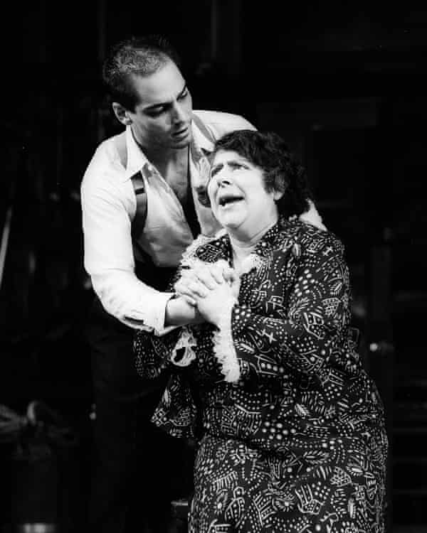Jean-Marc Barr and Miriam Margolyes in Orpheus Descending.