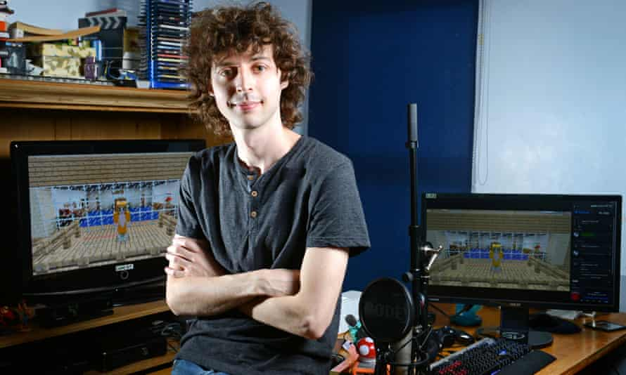 Joseph Garrett in his home studio. 'I don't want to come across as patronising.'