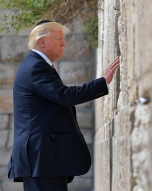 Trump visits the Western Wall on Monday.
