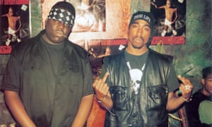 Biggie Smalls and Tupac Shakur, before they fell out.