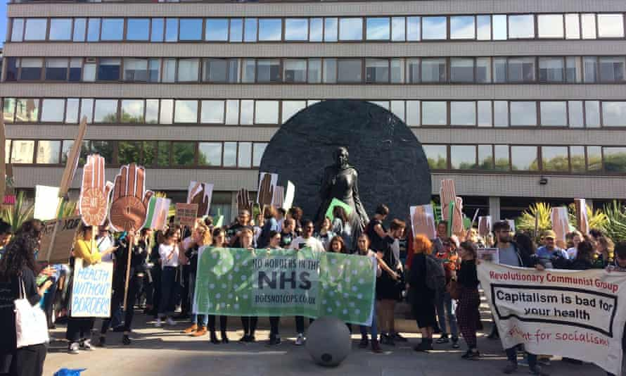 NHS protest against ID checks for patients