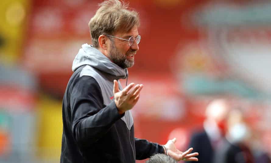 Jürgen Klopp watches his Liverpool side against Newcastle