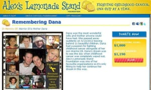 The donation page for the fictitious Dana Dirr posted by a hoaxer on a cancer charirty website