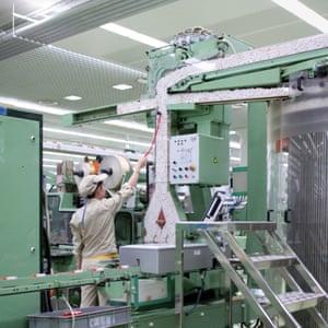 Yuxi, China. Inside the Hongta Group factory.
