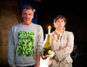 Brian Logan and Shamira Turner in Human Jam at Camden People's theatre.