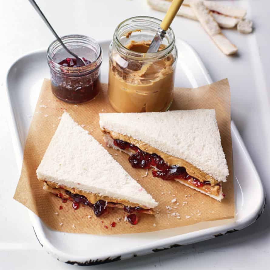 Peanut butter and jelly sandwich by Claire Ptak.