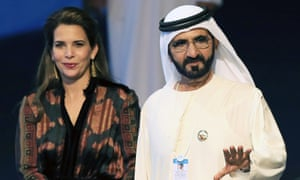 Sheikh Mohammed bin Rashid Al Maktoum and his sixth wife, Princess Haya bint Al Hussein, at the World Government Summit in Dubai, February 2017.
