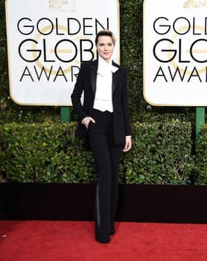 Evan Rachel Wood at the Golden Globes.