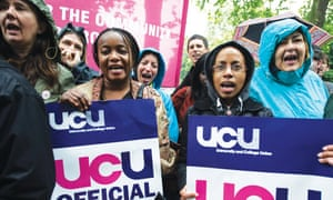Lecturers are striking over changes to the higher education sector's main retirement fund.