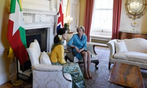 The two leaders speak inside No 10.