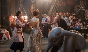 Tim Burton on the set of Dumbo … 'I don't know if it's a comedy or drama yet.'