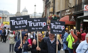 Thousands joined the anti-Trump demonstration in London