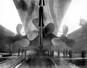 propellers of the Titanic in dry dock