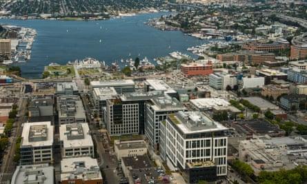 The Amazon campus sprawls across Seattle.