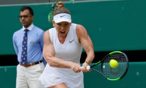 Simona Halep showed her power in the second set against Zhang Shuai, dropping just one game.