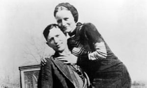 Bonnie Parker and Clyde Barrow, pictured circa 1933.