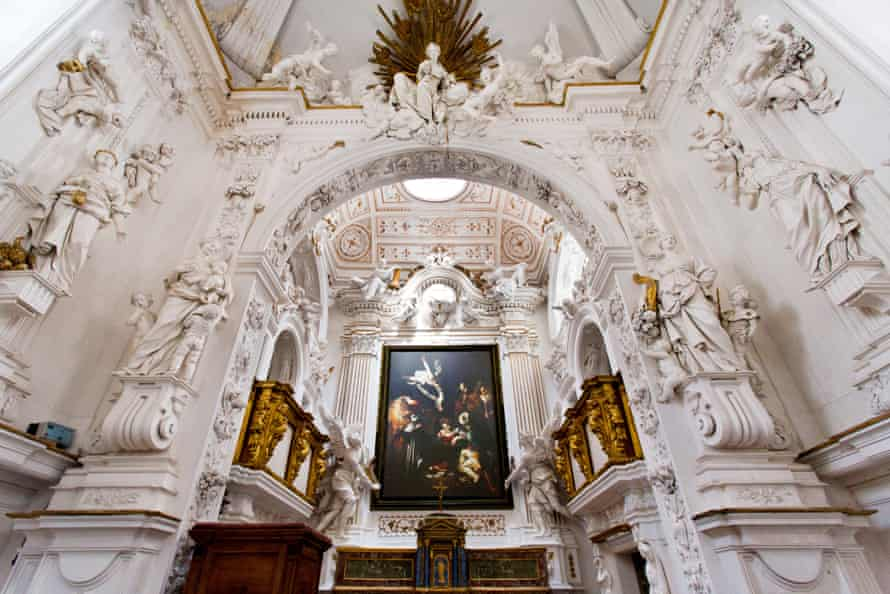 A recreation of the Caravaggio hangs in the Oratory of San Lorenzo.