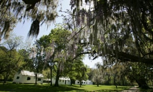 The history of American racism is visible at almost every turn in Charleston, South Carolina. The cabins at Magnolia Plantation and Gardens in the city were originally used by slaves.