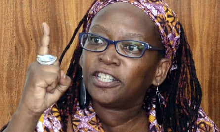 Stella Nyanzi in the dock at Buganda Road court in Kampala on 10 April.