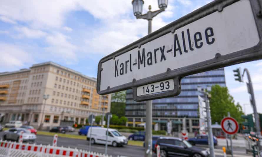 Former East German apartment buildings in Karl Marx Allee, Berlin