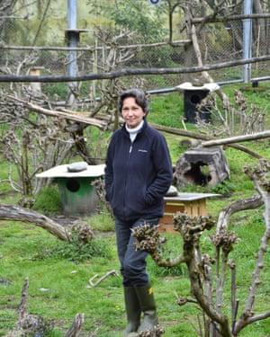 Marianne Hartmann in her wildcat breeding centre in Zurich, Switzerland.