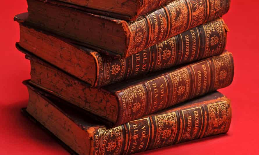 old volumes of the Encyclopedia Britannica