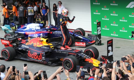 Max Verstappen says it's a 'shame' crash cost Red Bull teammate podium finish - video