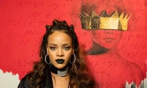 Rihanna in October with her Anti album art.