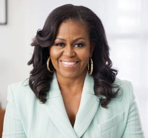 Michelle Obama presents the social justice impact award during the 52nd NAACP Image awards