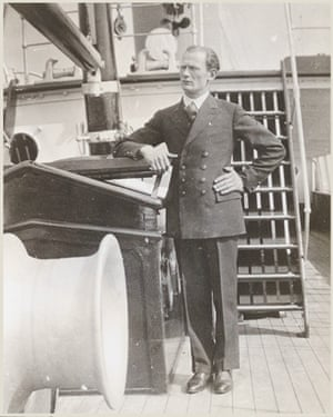 Harold Packham, his grandfather, on deck.