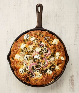 Yotam Ottolenghi's cornbread with cheddar, feta and jalapeño.