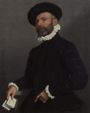 Giovanni Battista Moroni - Portrait of a Man holding a Letter ('L'Avvocato')