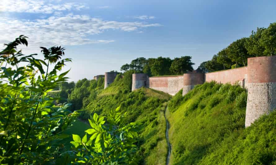 The historic old fortified ramparts of Montreuil sur Mer, France