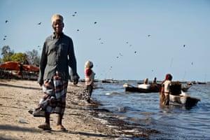 Mambo Huwiss Mambo, 75, a fisherman in the village of Chwaka