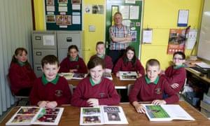 Pupils from Glenann school
