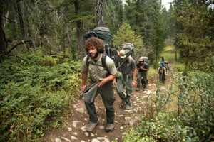 A forest service trail crew heads into the Lee Metcalf Wilderness Area in Montana.