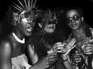 Bethann Hardison, Daniela Morera & Stephen Burrows at Studio 54 party for Valentino, New York City - 1977