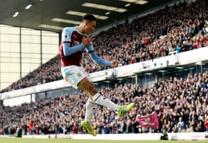 Burnley's Dwight McNeil celebrates scoring his side's second goal to beat Wolves 2-0 at Turf Moor.