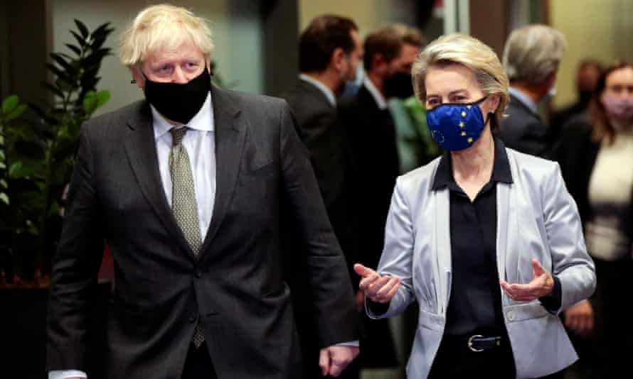Boris Johnson and EU commission president, Ursula von der Leyen.
