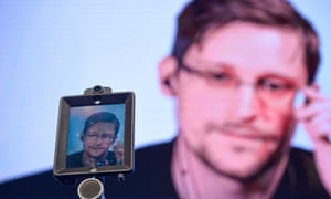 The former CIA employee and whistleblower Edward Snowden.