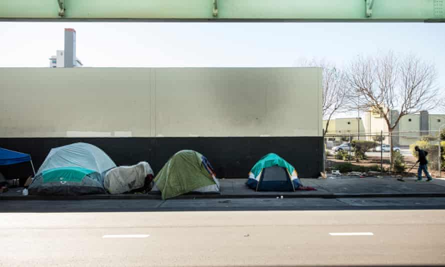 Homeless people's tents