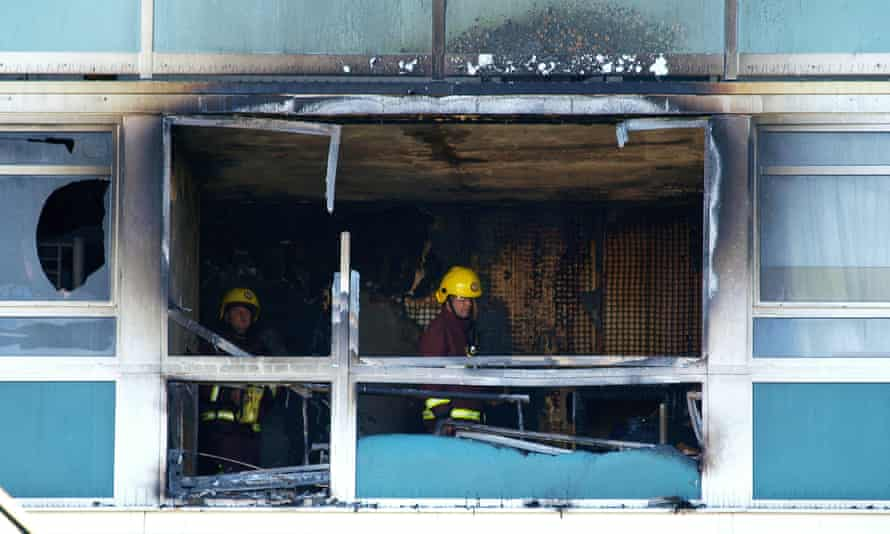 Firemen inside a flat at Lakanal House in Camberwell in 2009. Six people died then but recommendations from an inquiry into the fire have not been implemented.
