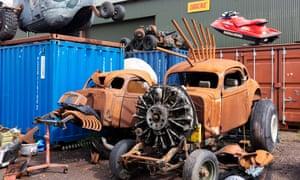 Joe Rush's Mutoid Waste sculptures for Cineramageddon
