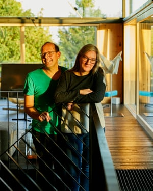 Modern lovers: design fans Klaus Failenschmid and Mary Morris in their newly built house.