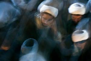 Shia clerics attend a ceremony in Iran.
