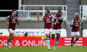 Ahmed Elmohamady celebrates his late equaliser from Conor Hourihane's corner.