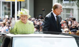 The Queen and Duke Of Edinburgh in Windsor on her 90th birthday