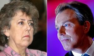 Eliza Manningham-Buller and Tony Blair in 2006